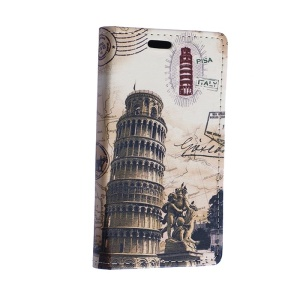 Leaning Tower of Pisa Leather Cover Case for Motorola Moto E2 XT1505 E+1 with Card Slots