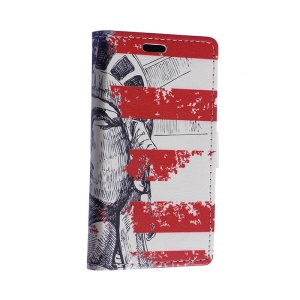 Statue of Liberty Leather Cover for Motorola Moto E2 XT1505 E+1 with Card Slots