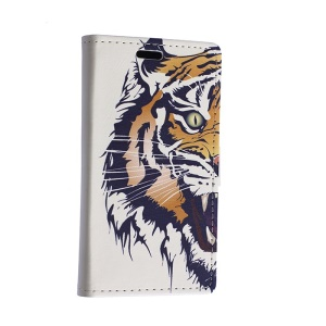 Fierce Tiger Leather Cover for Motorola Moto E2 XT1505 E+1 with Card Slots