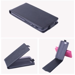 Crazy Horse Vertical Flip Leather Case for Asus PadFone Infinity A86 - Black