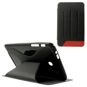 X-Shape Sand-like Texture Leather Stand Case for ASUS Fonepad 7 Dual SIM ME175CG - Black