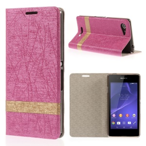 Rose Lines Texture Leather Cover for Sony Xperia E3 D2203 / E3 Dual SIM with Stand