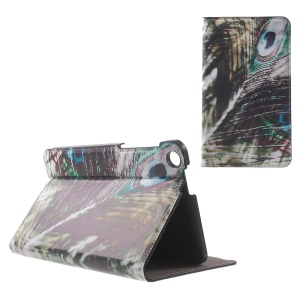 Patterned Stand Leather Cover for ASUS Fonepad 7 (FE171CG) - Peacock Feather