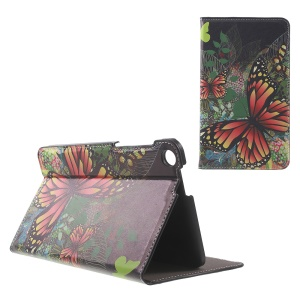 Patterned Stand Leather Cover for ASUS Fonepad 7 (FE171CG) - Tigrina Butterfly