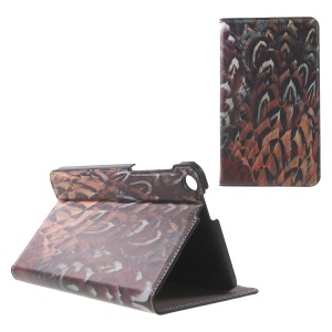 Patterned Stand Leather Cover for ASUS Fonepad 7 (FE171CG) - Bird Feather