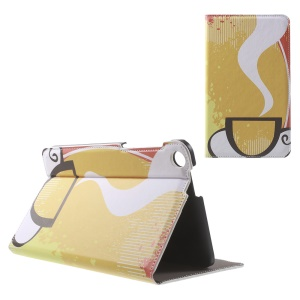 Patterned Stand Leather Shell for ASUS Fonepad 7 (FE171CG) - Hot Tea
