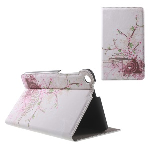 Patterned Stand Leather Cover for ASUS Fonepad 7 (FE171CG) - Pink Flower