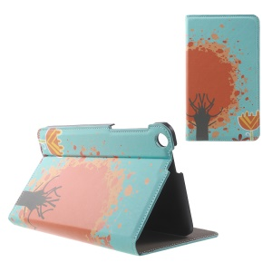Patterned Stand Leather Cover for ASUS Fonepad 7 (FE171CG) - Tree