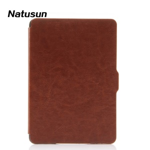 Natusun for Amazon Kindle Paperwhite Crazy Horse Slim Smart Leather Cover - Brown