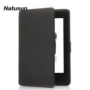 Natusun Slim Crose Texture Smart Leather Protective Case for Amazon Kindle Paperwhite - Black