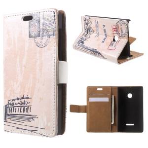 Big Ben and Postmark Leather Card Holder Shell for Microsoft Lumia 535 / 535 Dual SIM