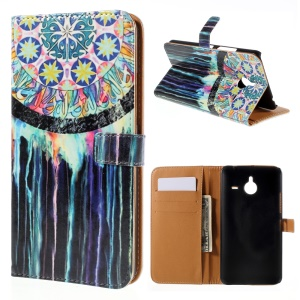 Wallet Leather Stand Case for Microsoft Lumia 640 XL / Dual SIM - Dream Catcher