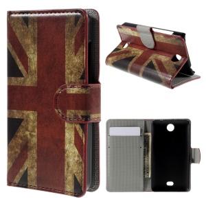 Retro Union Jack Flag Stand Wallet Leather Case for Microsoft Lumia 430 Dual SIM
