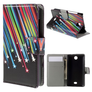 Meteor Shower for Microsoft Lumia 430 Dual SIM Stand Wallet Leather Phone Case