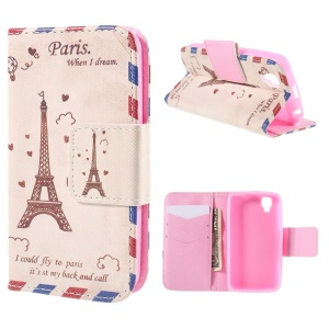 Eiffel Tower Wallet Stand Leather Case for Wiko GOA