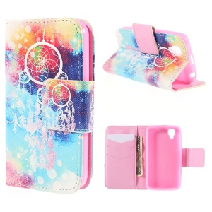 Dream Catcher Leather Wallet Stand Case for Wiko GOA