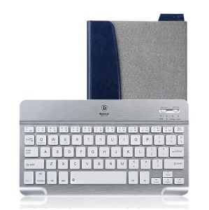 Grey Baseus Tron Series General Type Bluetooth keyboard Leather Case for iPad Air 4 3 / mini 2 Retina / Windows Tab/ Android Tabs