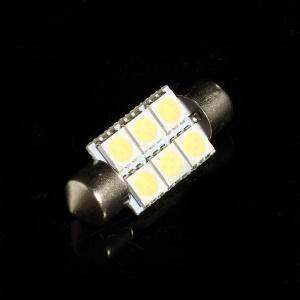 36MM 6Pcs 5050 1W White LED Light Lamp Bulb
