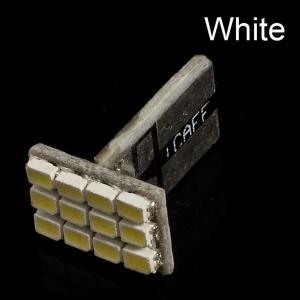 T10 3020 1.2W 12 LED Lamp Light Bulb - White
