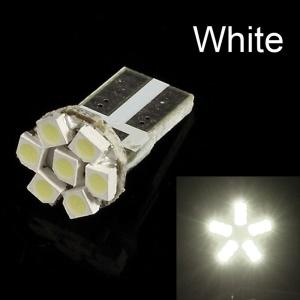 White T10 1W 3528 7 LED Light Lamp Bulb, DC 12V