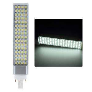 13W AC100-260V G24 14S4P 5050 64-LED Horizon Down Light Corn Lamp - Cool White