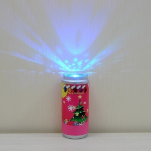 Christmas Style Pattern Pop Can Colorful LED Desk Light - Rose