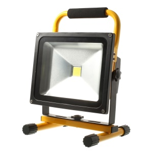 Portable Rechargeable 30W 11.1V 7800mAh Cool White LED Flood Light Waterproof IP65 - Yellow