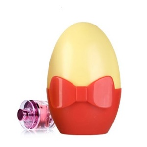 Bowknot Egg Design Light-operated 0.3W LED Night Lamp Bedroom Lighting AC 110-220V - Yellow / Red