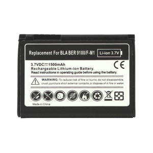 BlackBerry Battery for BlackBerry Pearl 3G 9100 9105 Style 9670 1500mAh F-M1