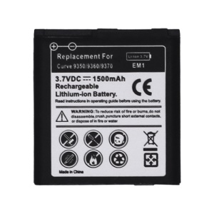 E-M1 Battery Replacement for BlackBerry Curve 9350 9360 9370 800mAh (Built-in Decode Chip)