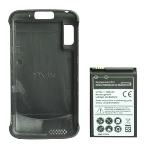 BH6X Li-ion Extended Battery with Special Battery Door Cover for Motorola ATRIX 4G (3500mAh)