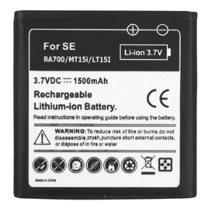 BA700 Battery Replacement for Sony Xperia Pro / Xperia Neo / Xperia neo V / Xperia P 1500mAh