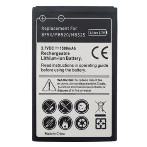 1500mAh BF5X Battery for Motorola Bravo MB520/ Defy MB525 / Droid 3 XT862