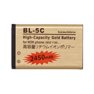 BL-5C Battery for Nokia X2-01 C1-01 C1-02 C2-01 N70 N71 N72 N91 E50 E60 2450mAh, high capacity
