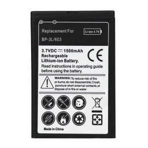 BP-3L Battery Replacement for Nokia 603 / Asha 303 / Lumia 710 / Lumia 610 (1500mAh)