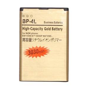 BP-4L Battery for Nokia E52 E55 E61i E63 E71 E72 E90 N810 N97 3030mAh, high capacity