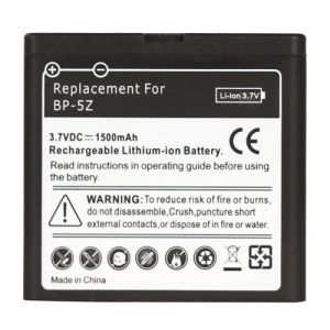 Cell Phone BP-5Z Battery Replacement for Nokia 700, Capacity:1500mAh