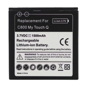 T-Mobile For LG C800 MyTouch Q Battery Replacement 1500mAh