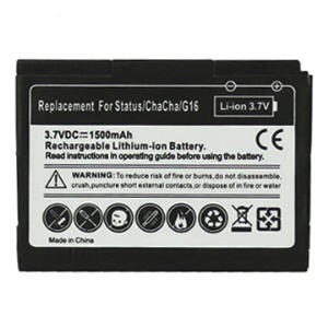 1500mAh Li-ion Battery Replacement for HTC Chacha G16 A810e / HTC Status
