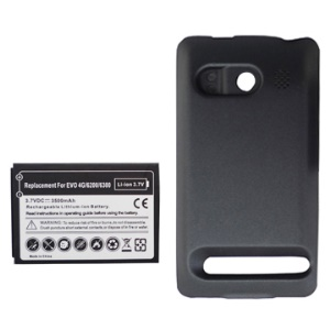 HTC EVO 4G High Capacity 3500mAh Extended Thick Battery + Modified Battery Cover