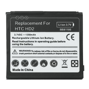 1350mAh Mobile Phone Battery for HTC HD2 BB81100