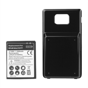 For Samsung Galaxy S II AT&T SGH-i777 Extended Battery and Battery Door Cover 3500mAh