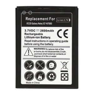 For Samsung Galaxy Note GT-N7000 i9220 LTE i717 Battery Replacement 2600mAh