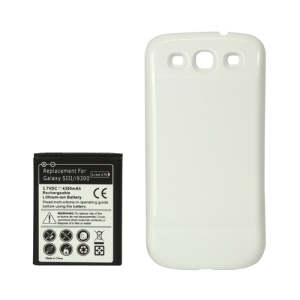 For Samsung i9300 Galaxy S iii Extended Battery with Battery Door Cover 4300mAh - White