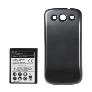 Samsung i9300 Galaxy S iii Extended Battery with Battery Door Cover 4300mAh - Grey