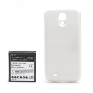 Extended Battery with Battery Door Cover for Samsung Galaxy S IV 4 i9500 5800mAh - White