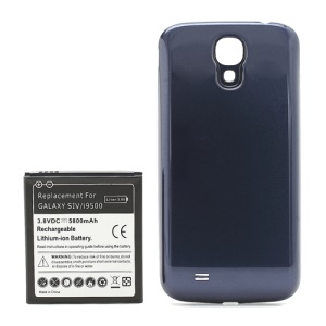 Extended Battery with Battery Door Cover for Samsung Galaxy S IV 4 i9500 5800mAh - Dark Blue