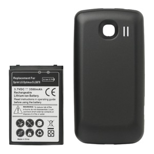 3500mAh Extended Battery + Back Cover Replacement for LG Optimus S LS670