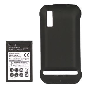 Motorola Photon 4G MB855 Extended Battery with Modified Battery Cover 3500mAh