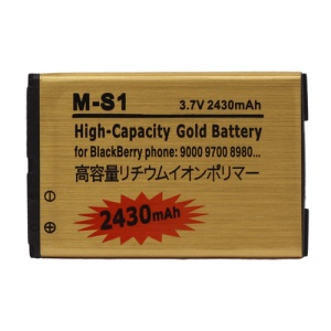 Gold 2430mAh M-S1 Battery Replacement for BlackBerry Bold 9000 9700 9780